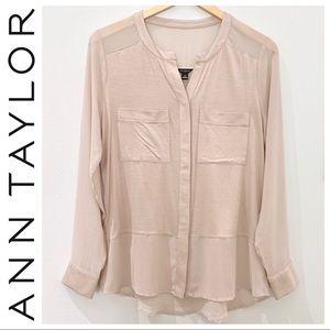 Ann Taylor Tunic-Style Top, M, Blush